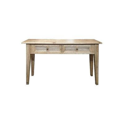 Croix Oak Timber Hall Table, 140cm