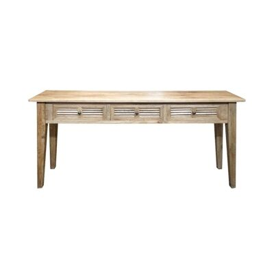 Croix Oak Timber Hall Table, 180cm