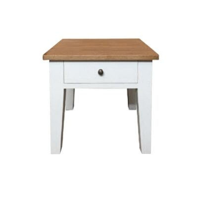 Lucia Oak Timber Lamp Table, Natural / Distressed White