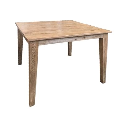 Lucia Oak Timber Square Dining Table, 90cm, Antique Natural