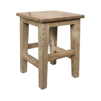 Lucia Oak Timber Table Stool, Antique Natural