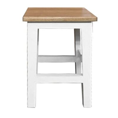 Lucia Oak Timber Table Stool, Natural / Distressed White