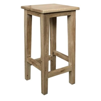 Lucia Oak Timber Counter Stool, Antique Natural