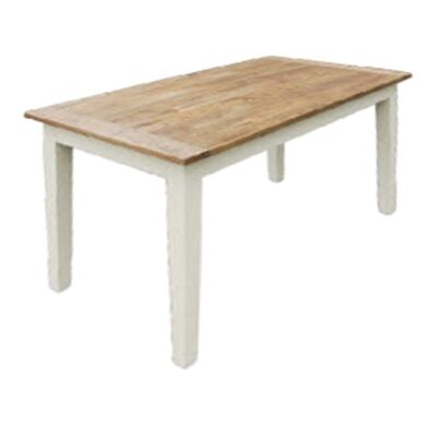 Roanne Oak Timber Dining Table, 210cm, Natural / White