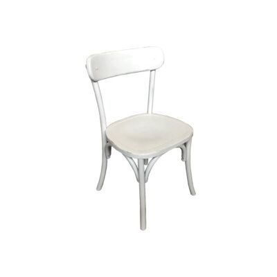 Loreux Timber Dining Chair, White