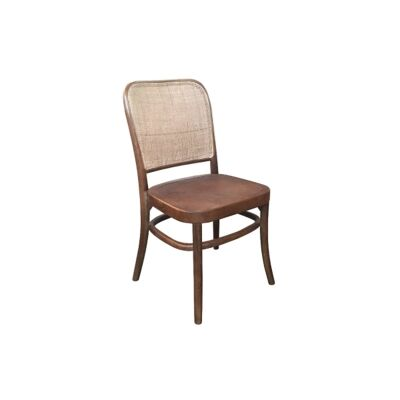 Aubres Timber & Rattan Dining Chair, Brown
