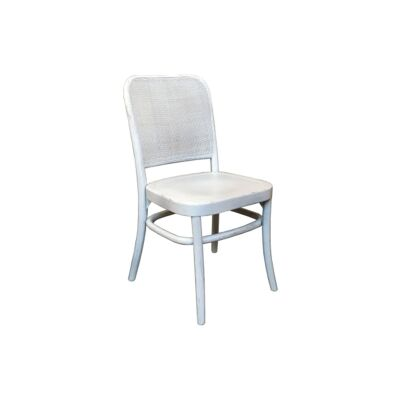Aubres Timber & Rattan Dining Chair, White