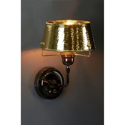 Jacobsen Hammered Metal Flared Wall Light, Gold