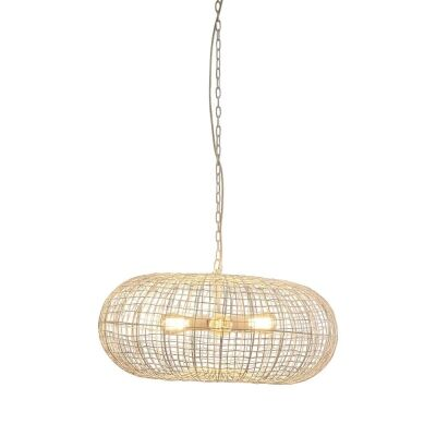 Lobster Metal Wire Pendant Light, White