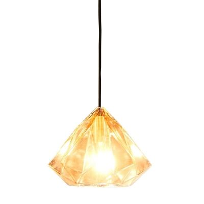 Graff Faceted Glass Droplet Pendant Light, Small, Champagne