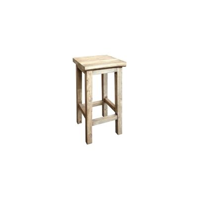 Moux Reclaimed Elm Timber Counter Stool, Natural