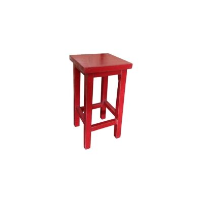 Moux Reclaimed Elm Timber Counter Stool, Red