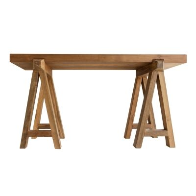Billy Reclaimed Teak Timber Console Table, 140cm