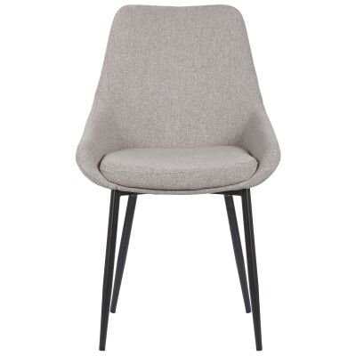 Domo Commercial Grade Fabric Dining Chair, Grey