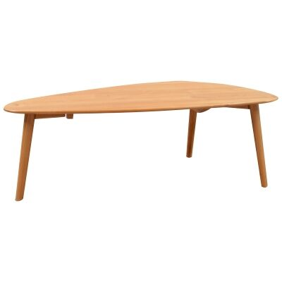 Milan Alder Timber Triangle Coffee Table, 120cm