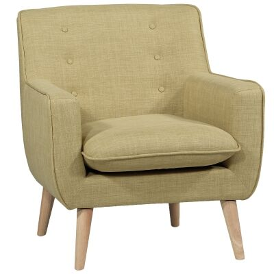 Molena Commercial Grade Fabric Lounge Armchair, Olive