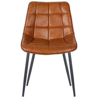 Nantes Commercial Grade Faux Leather Dining Chair, Tan