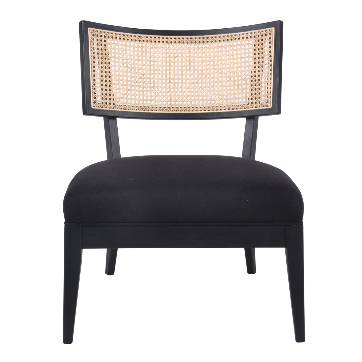 Darcy Oak Timber & Fabric Occasional Chair, Black