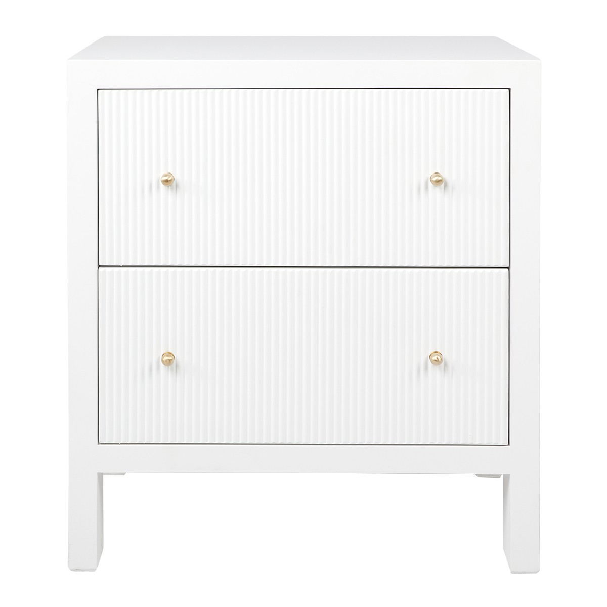 Ariana Bedside Table, Large, White