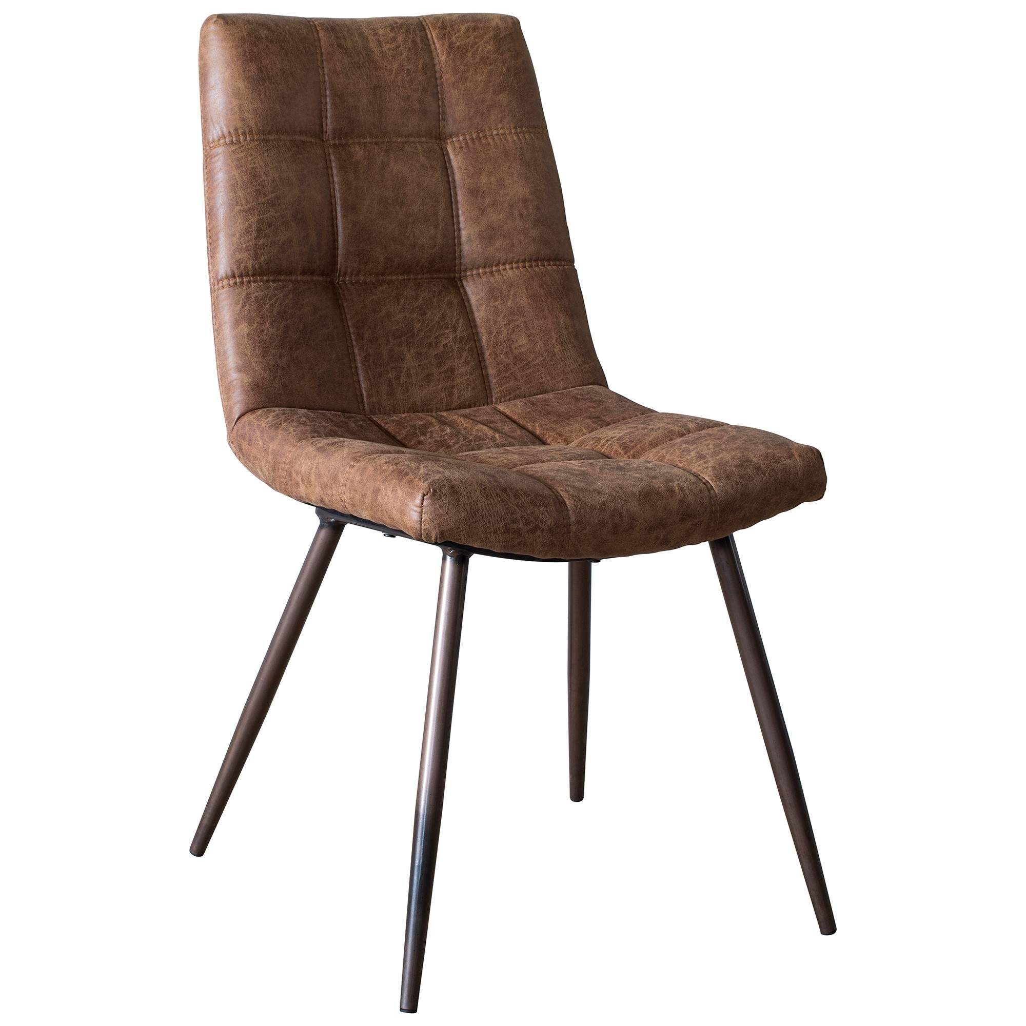 Dundell Faux Leather Dining Chair, Set of 2, Brown