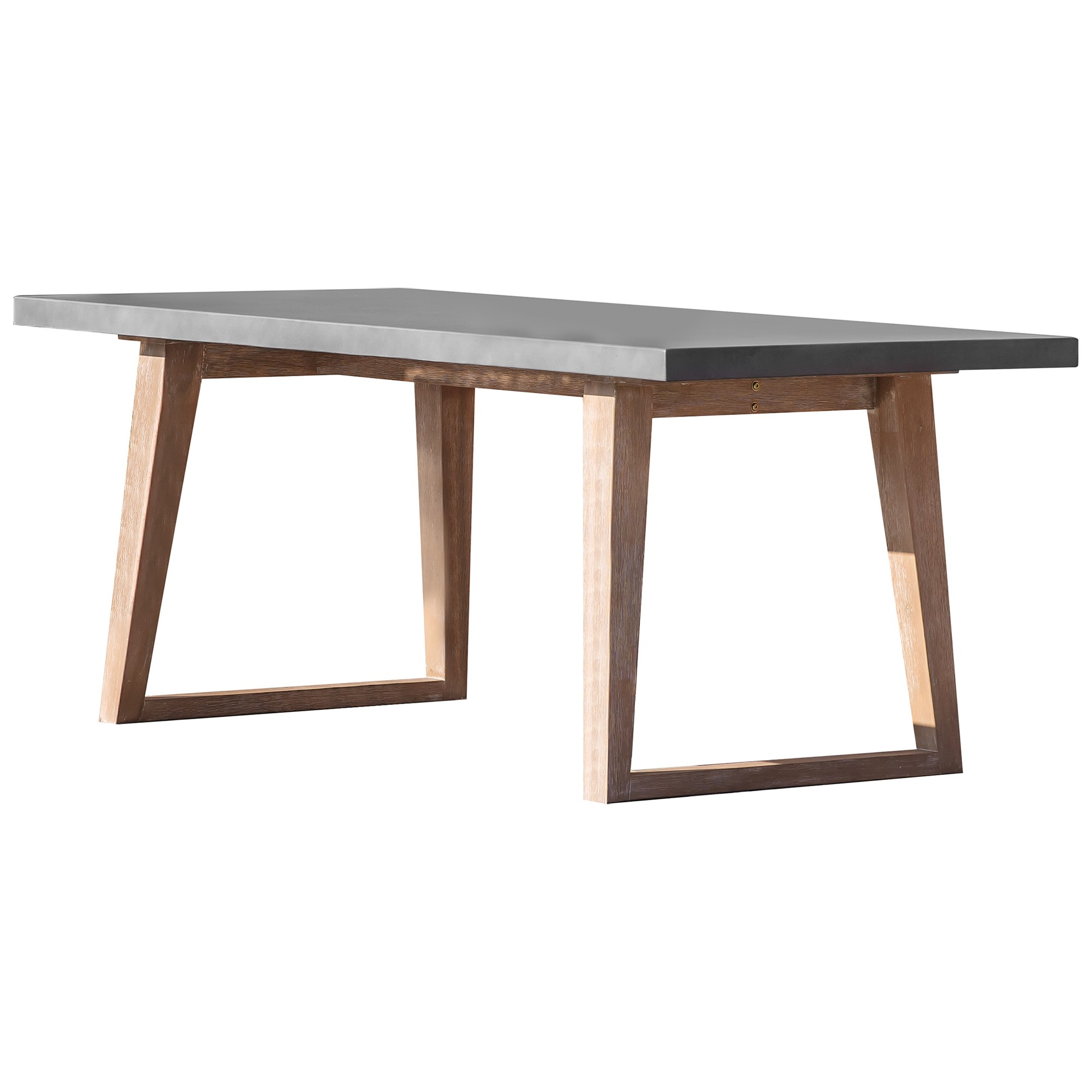 Maricca Concrete Top Outdoor Dining Table, 180cm