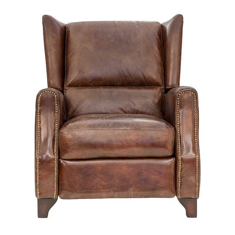 Kimberley Aged Leather Recliner Armchair