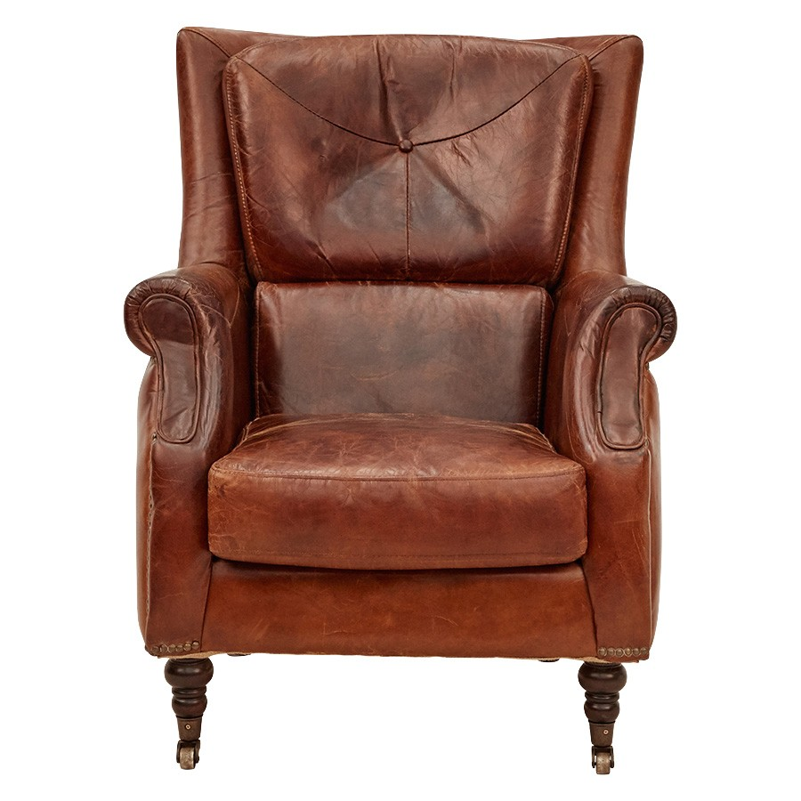 Rossiter Aged Leather Armchair