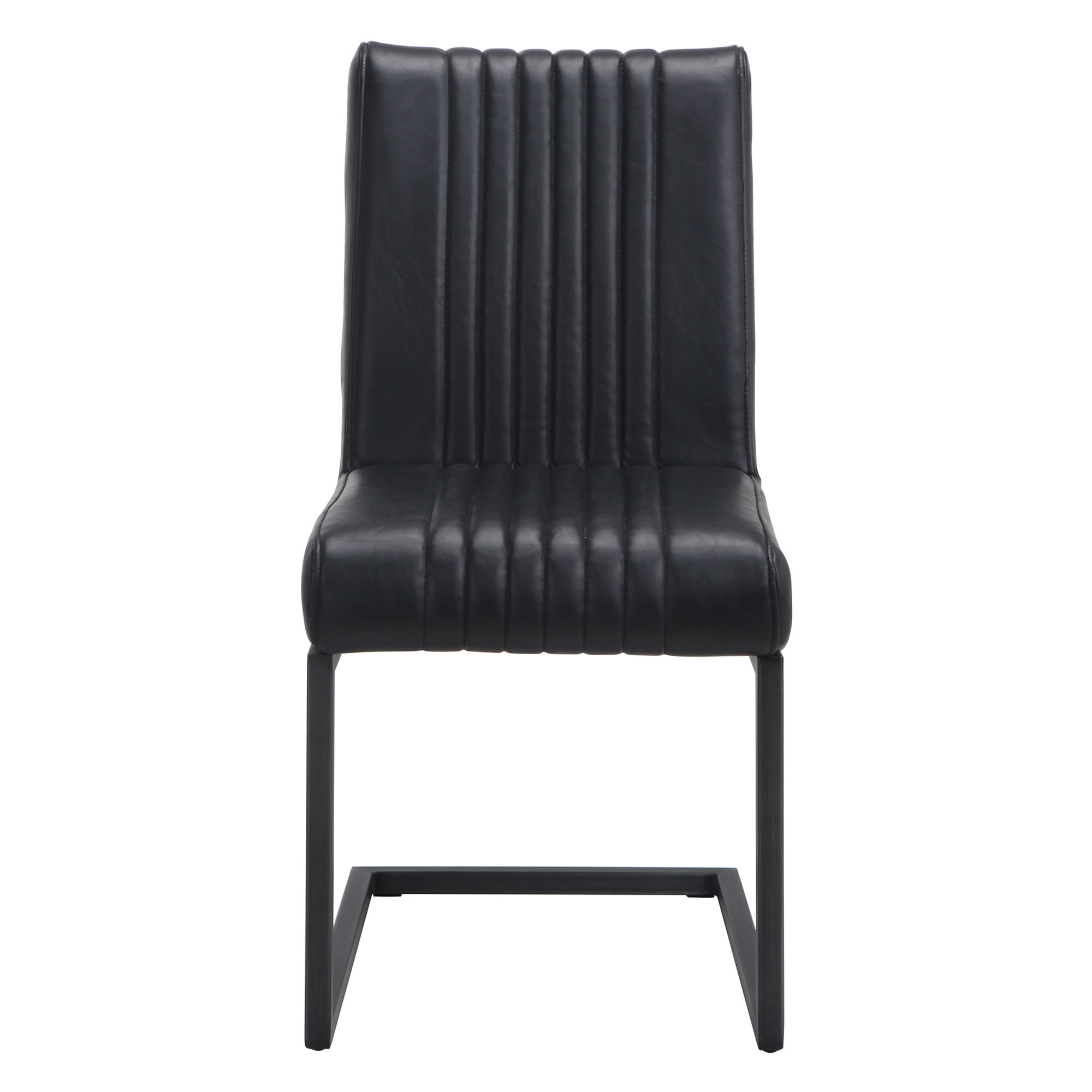 Callahan Faux Leather Dining Chair, Black