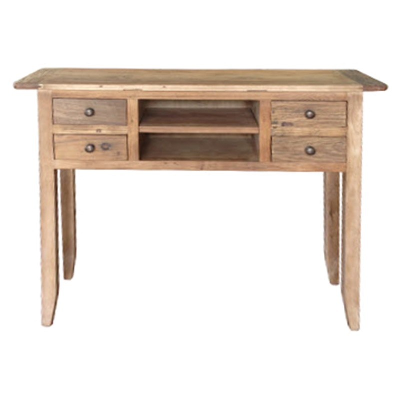 Bambi Reclaimed Elm Timber Hall Table, 100cm, Natural