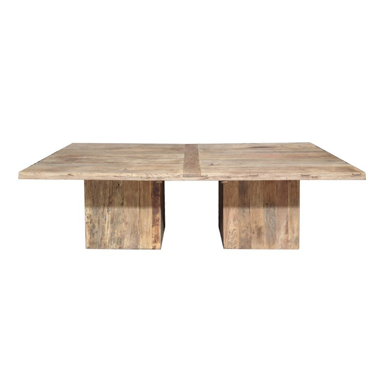 Kersia Reclaimed Elm Timber Dining Table, 240cm