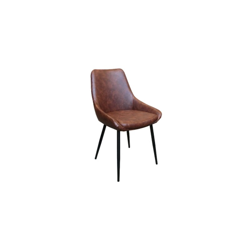 Brest Faux Leather Dining Chair, Brown