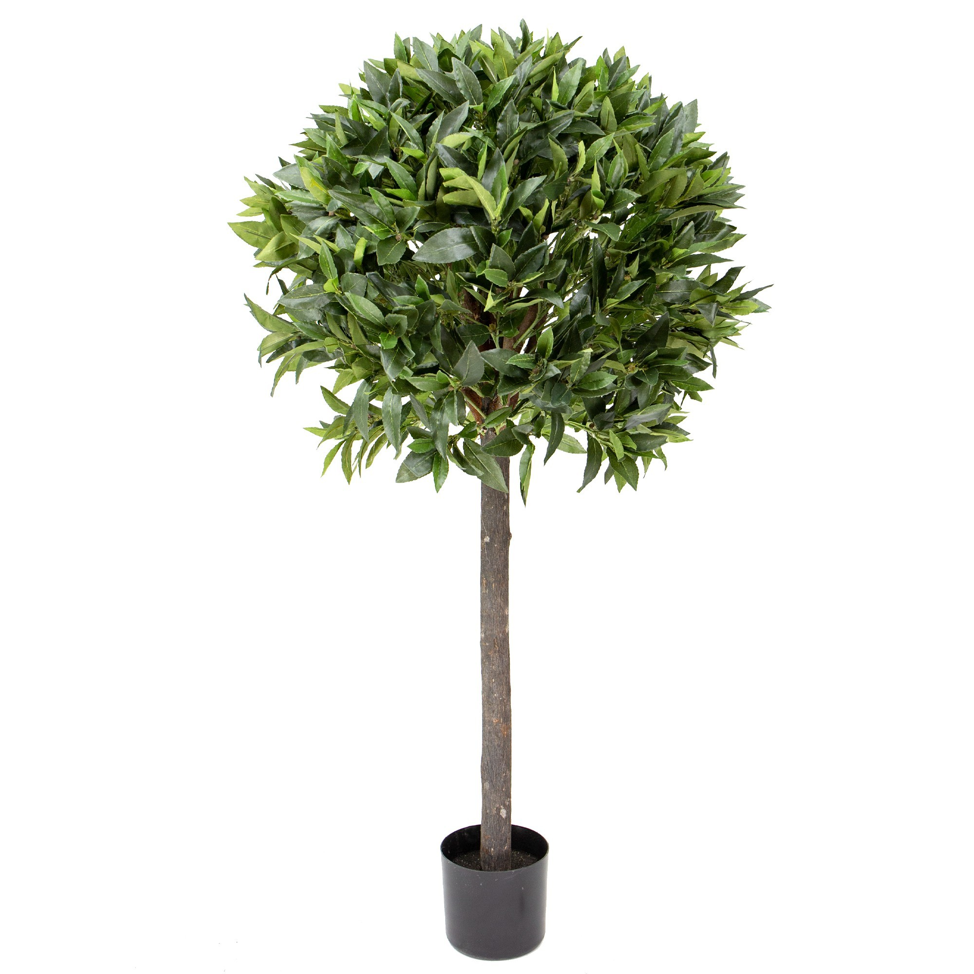 Glamorous Fusion Potted Artificial Bay Leaf Topiary, 125cm