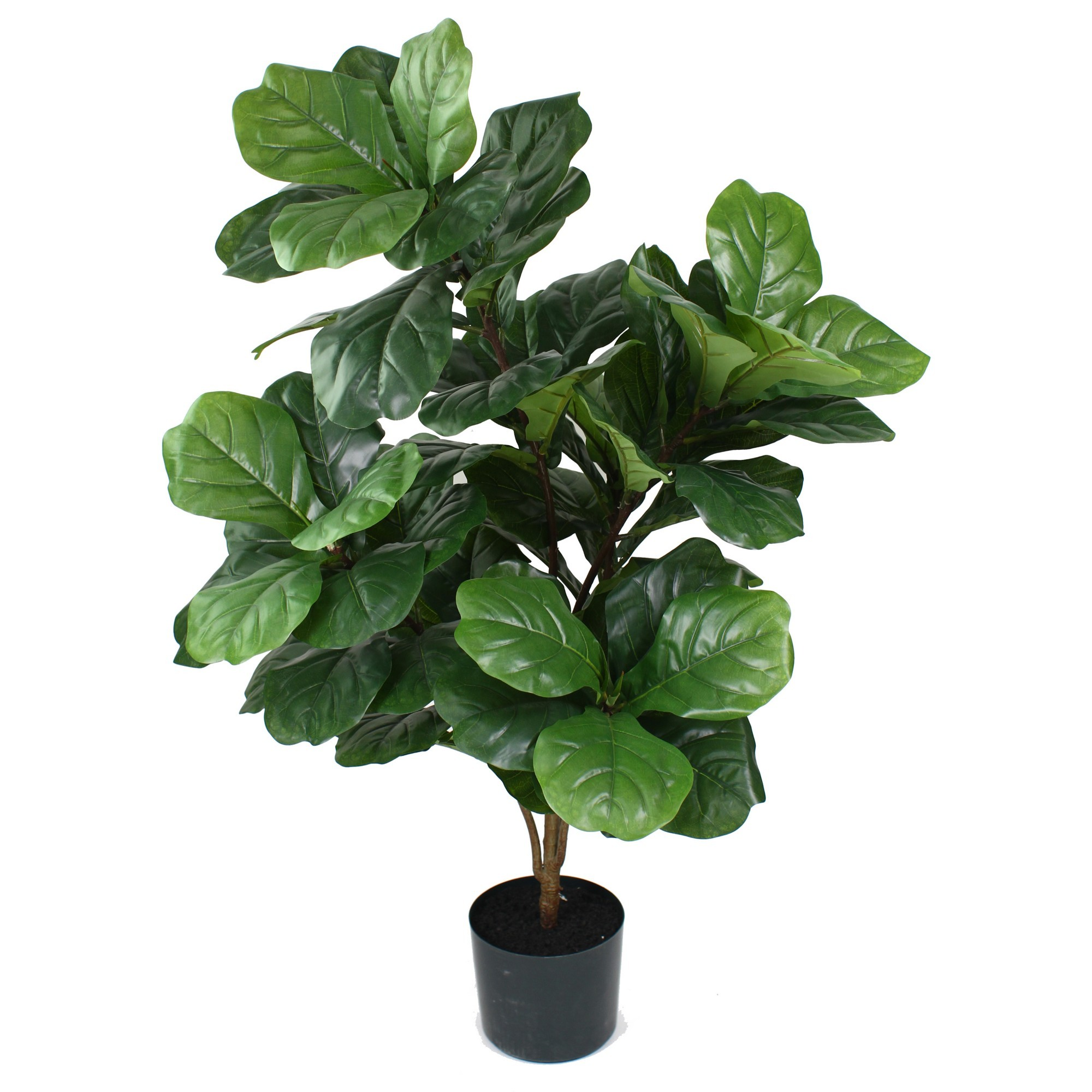 Glamorous Fusion Potted Artificial Fiddle Leaf Fig Tree, 140cm