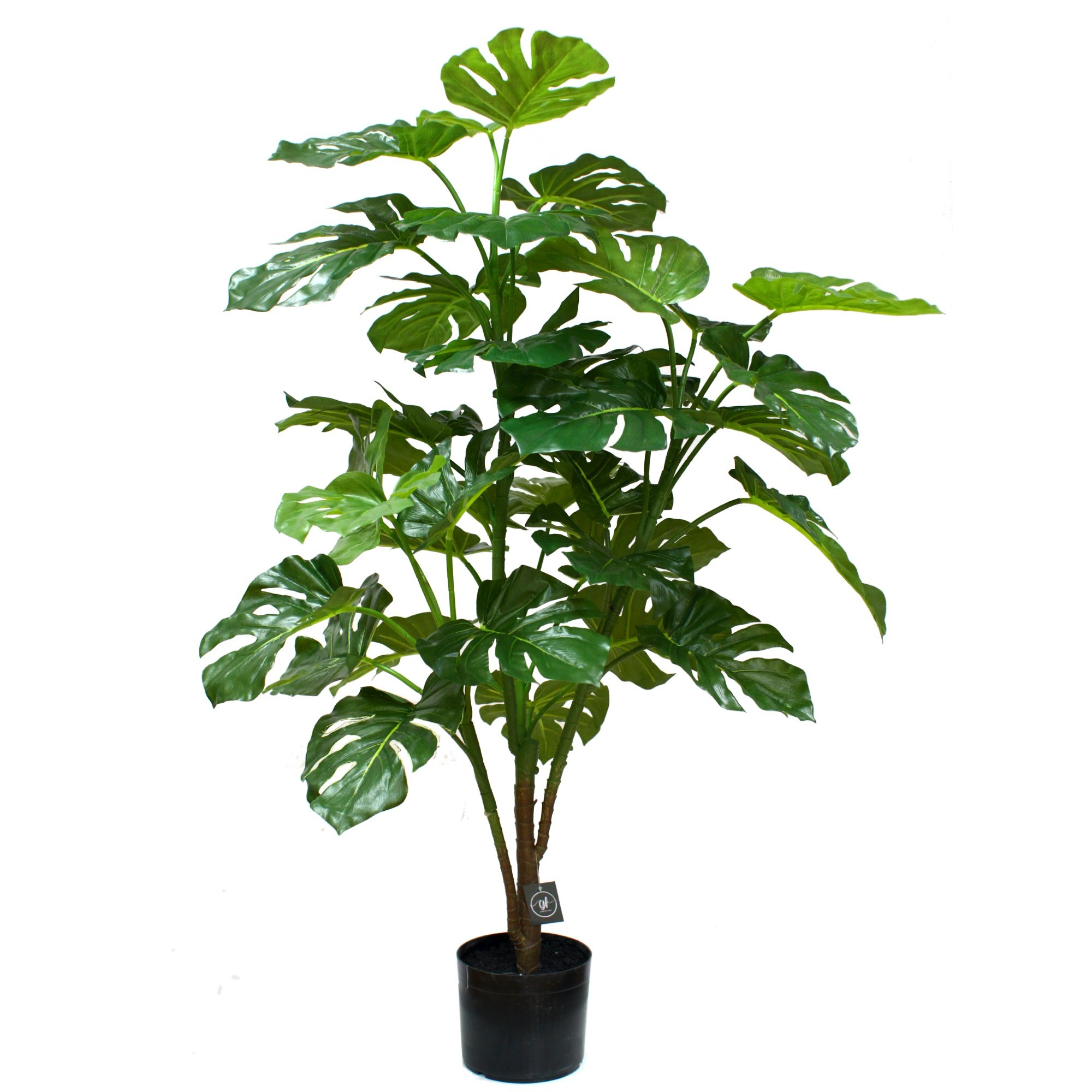 Glamorous Fusion Potted Artificial Split Leaf Philodendron, 127cm