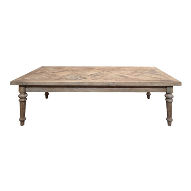 Morocco Reclaimed Elm Timber Coffee Table, 140cm