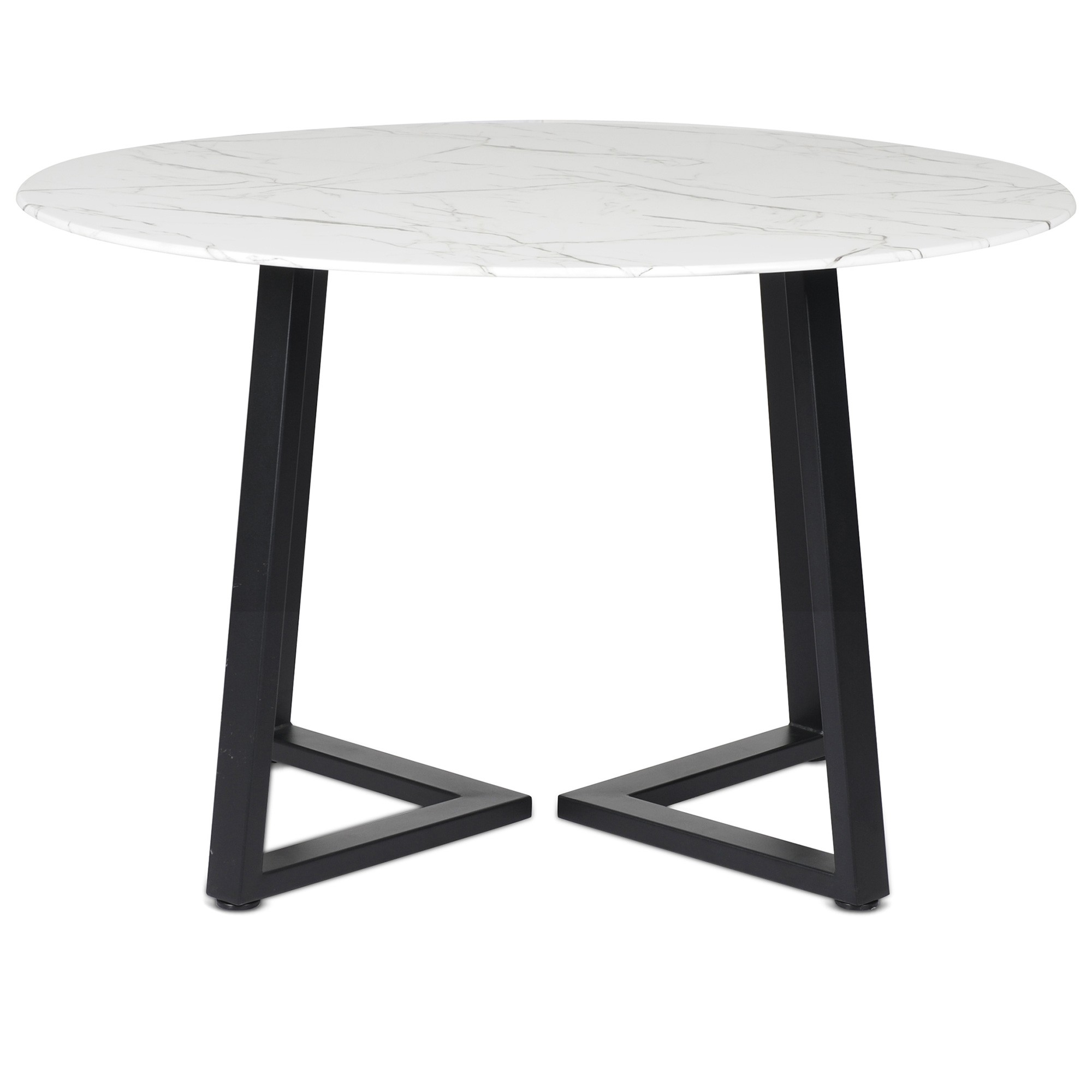 Kingsley Marble Effect Round Dining Table, 120cm